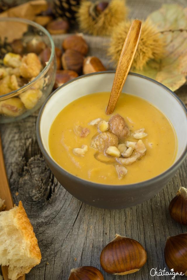 Soupe Potiron-Châtaignes