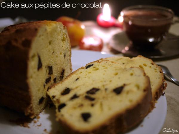 cake aux p pites de chocolat blog de ch taigne. Black Bedroom Furniture Sets. Home Design Ideas
