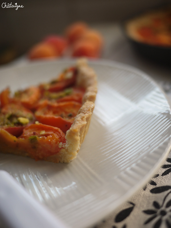 Tarte abricots-pistaches