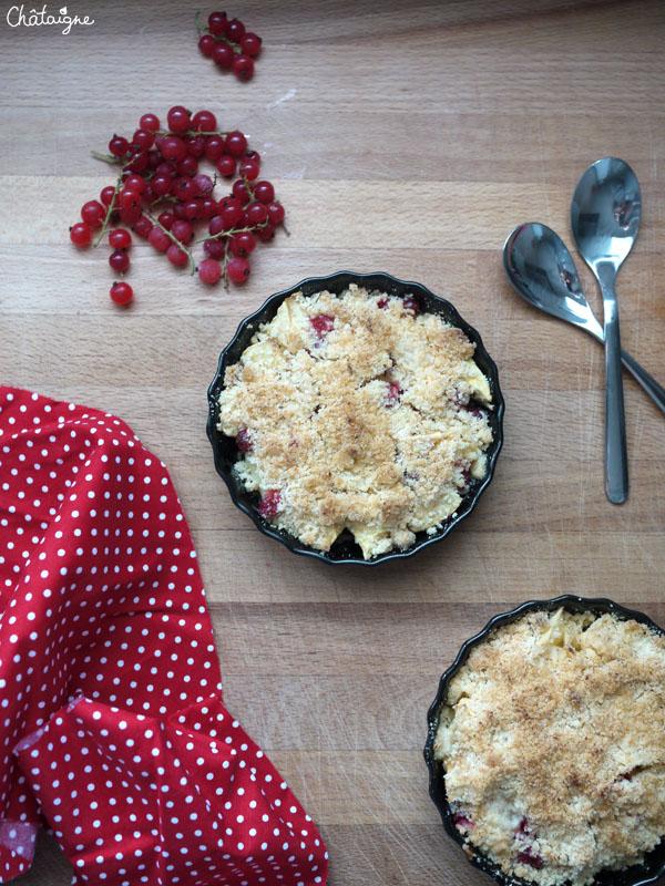 crumble pommes-groseilles 5