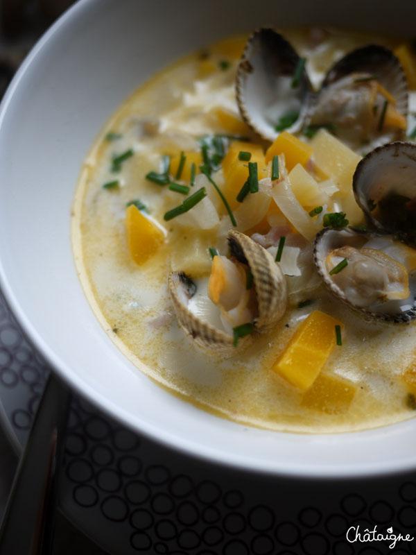 Clam chowder - soupe aux coques