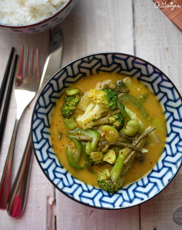 curry de légumes verts