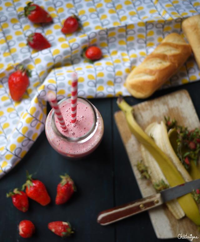 milkshake fraises-banane