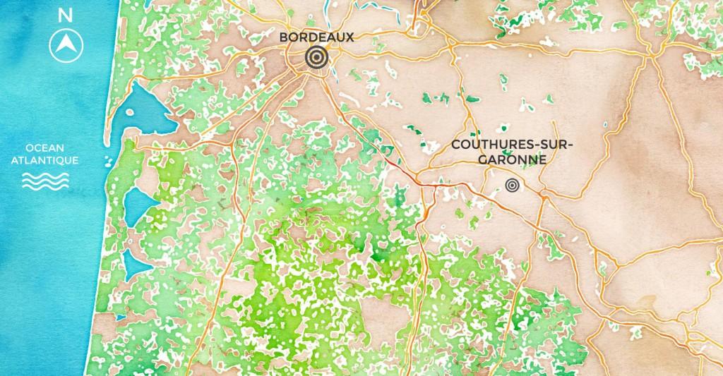 Couthures-sur-garonne (carte)