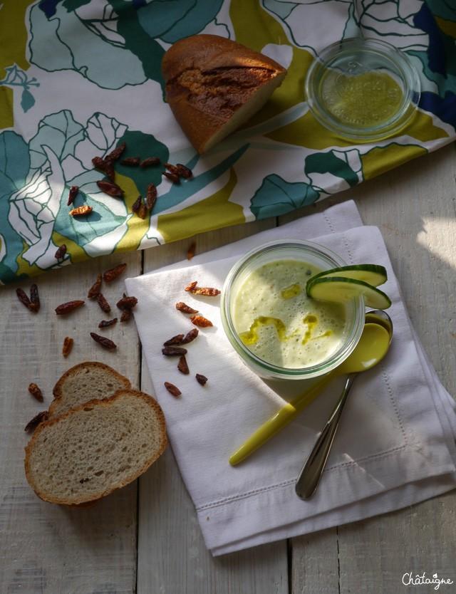 Gaspacho Concombre et Basilic