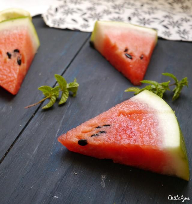 Smoothie pastèque-citron-menthe