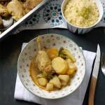 Couscous de poulet légumes racines