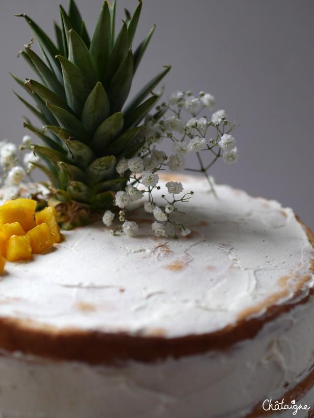 naked cake ananas-mangue