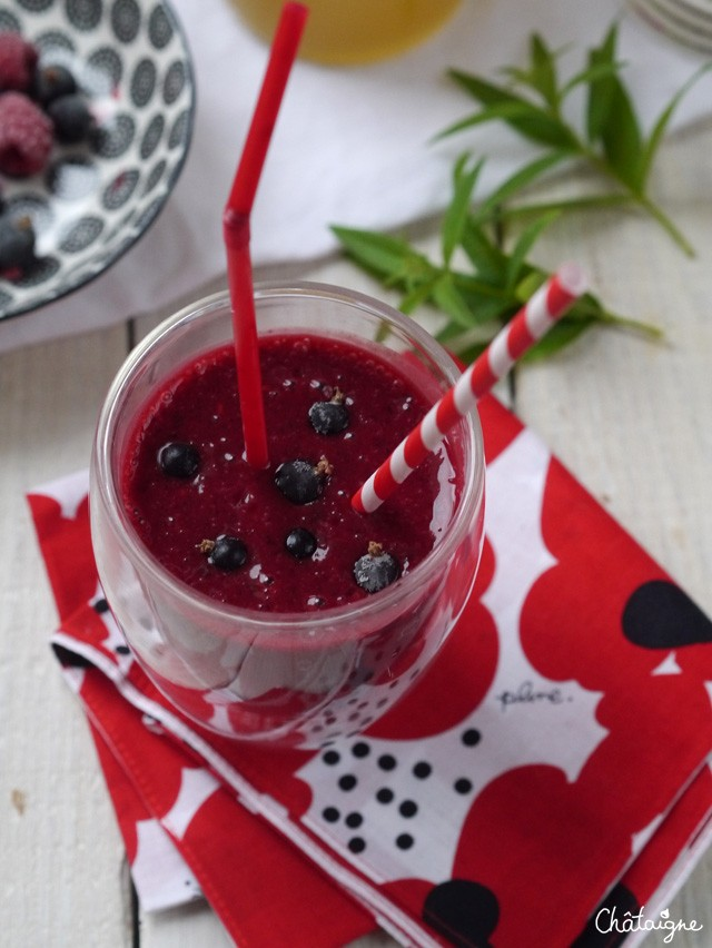 Smoothie cassis-framboise