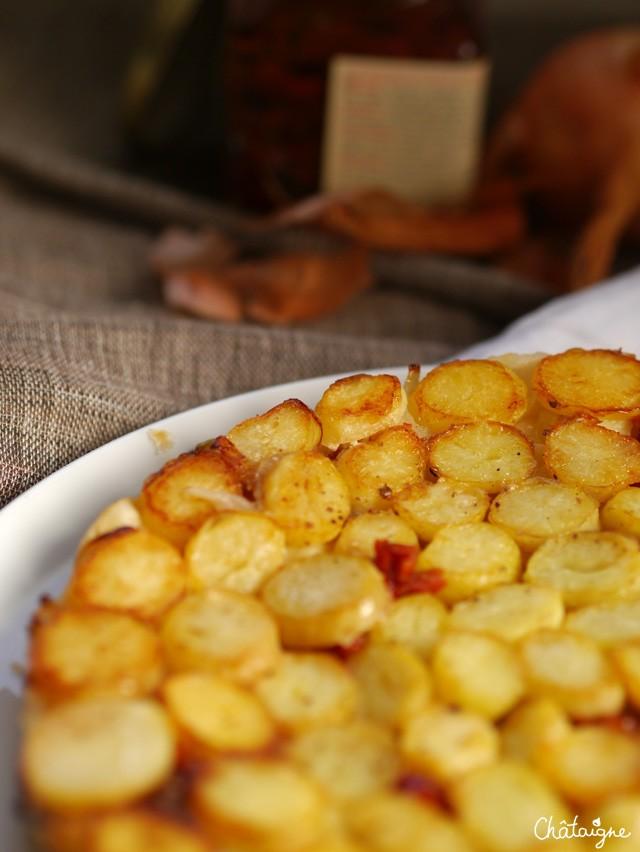 tarte tatin aux pommes de terre nouvelles