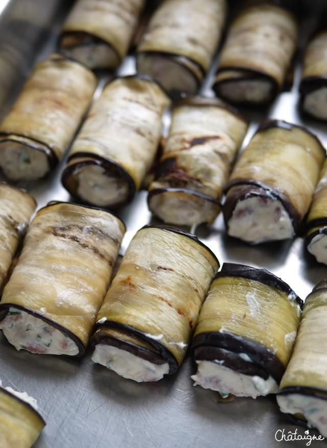 Cannellonis d'aubergines à la ricotta