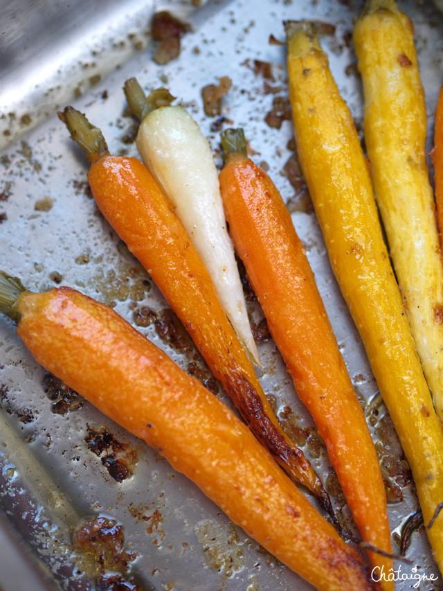 Carottes rôties au parmesan