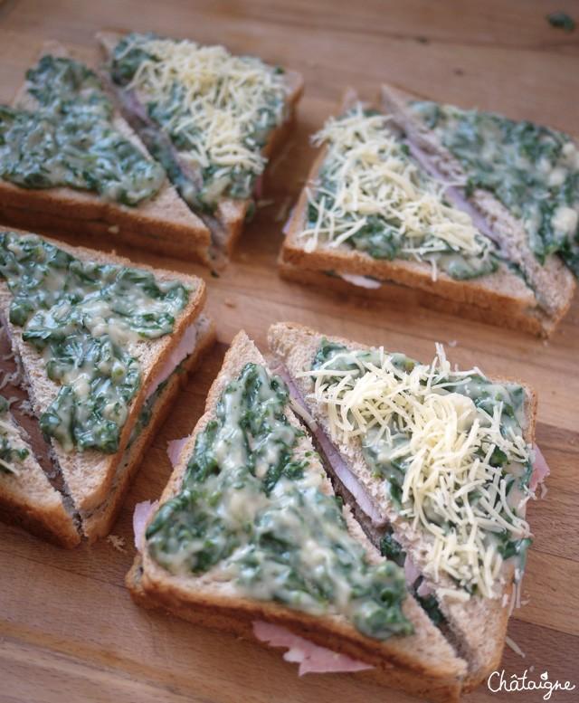 Croque monsieur aux pinards blog de ch taigne - Sachet cuisson croque monsieur grille pain ...