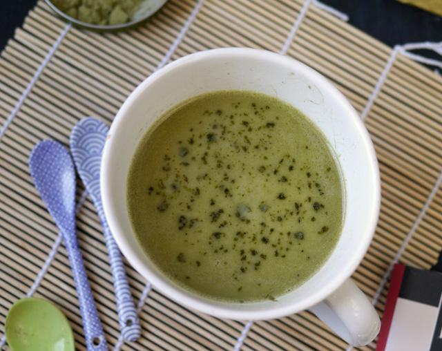 Matcha tea latte au chocolat blanc [sans lactose]