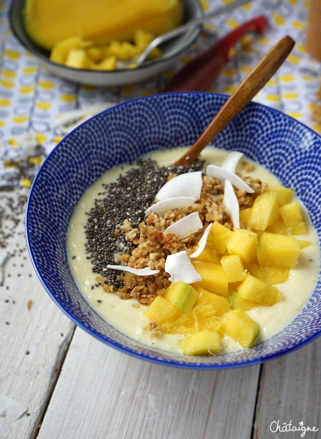 smoothie bowl mangue-banane