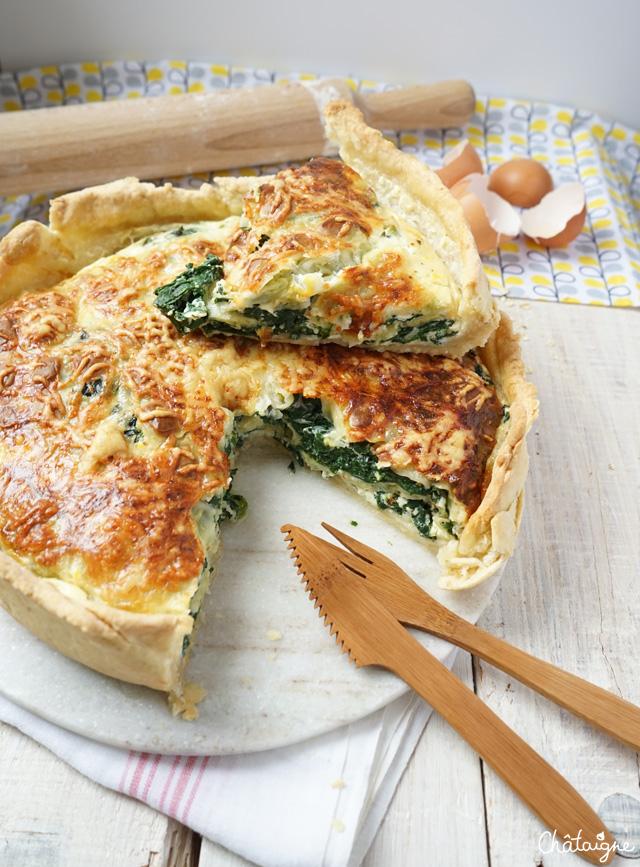 tarte aux épinards et aux ravioles