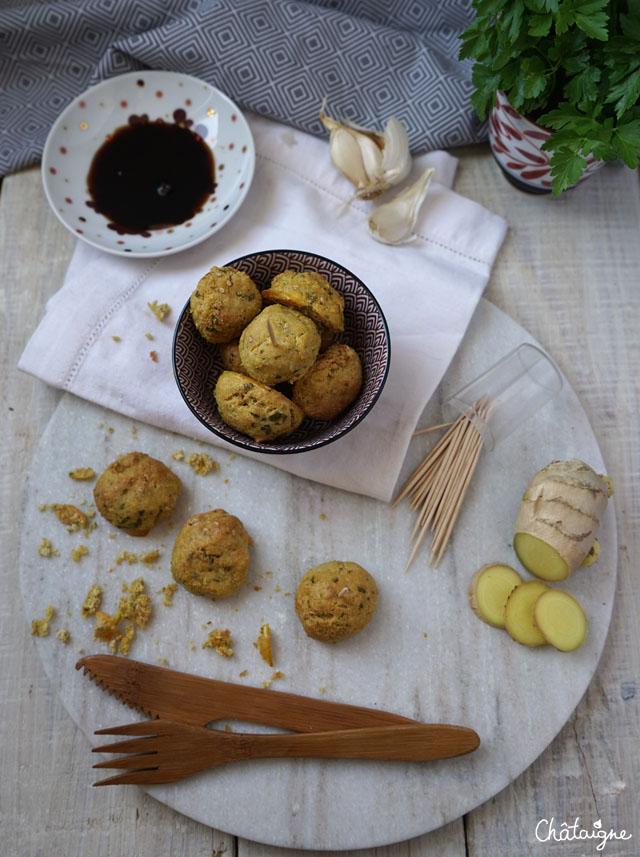 Boulettes de tofu au gingembre