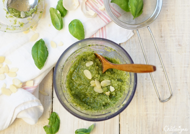 Pesto de basilic aux amandes