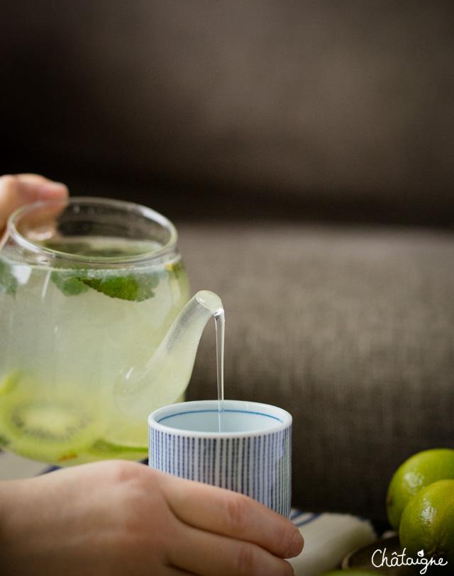 Souvent Eau detox citron vert-kiwi-menthe - Blog de Châtaigne OK79