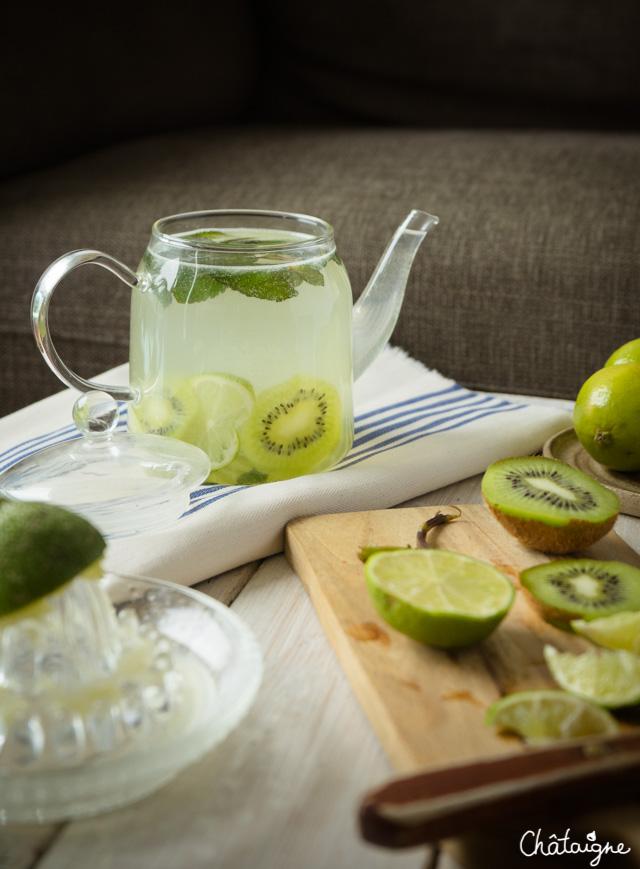 Populaire Eau detox citron vert-kiwi-menthe - Blog de Châtaigne HU48