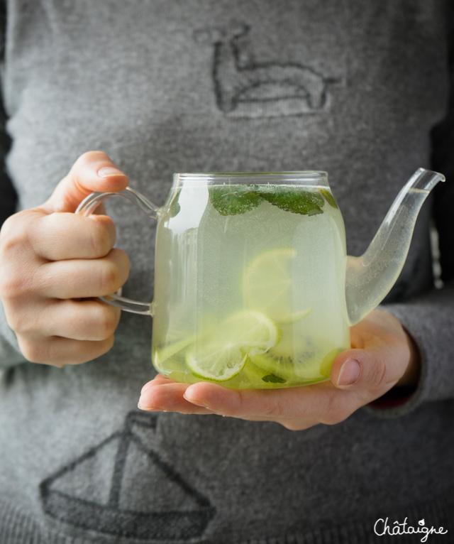 Bien-aimé Eau detox citron vert-kiwi-menthe - Blog de Châtaigne UA57
