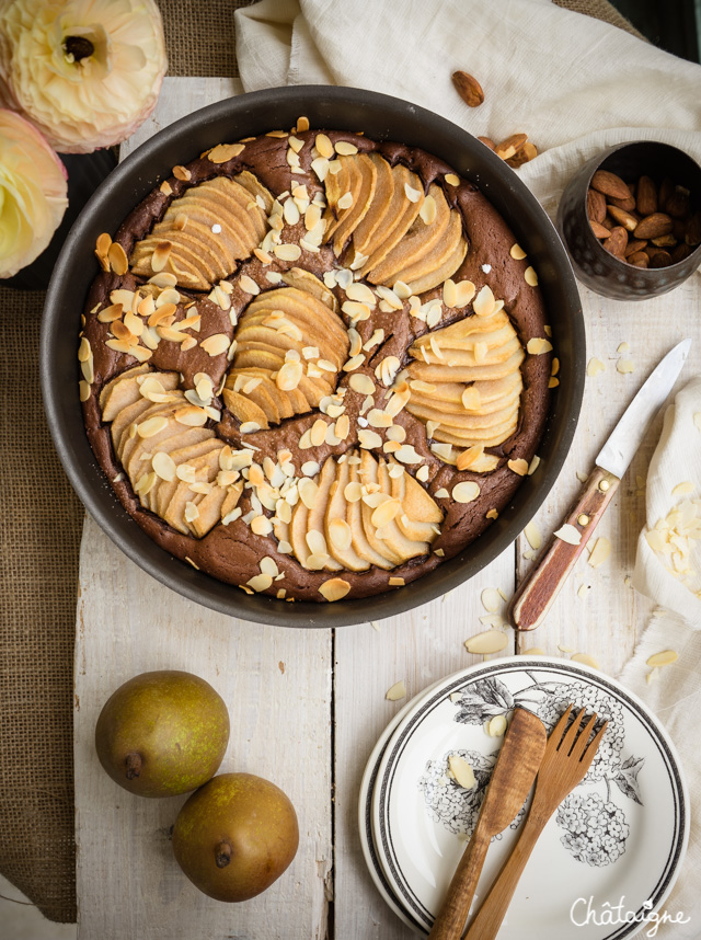 Gâteau poires-chocolat