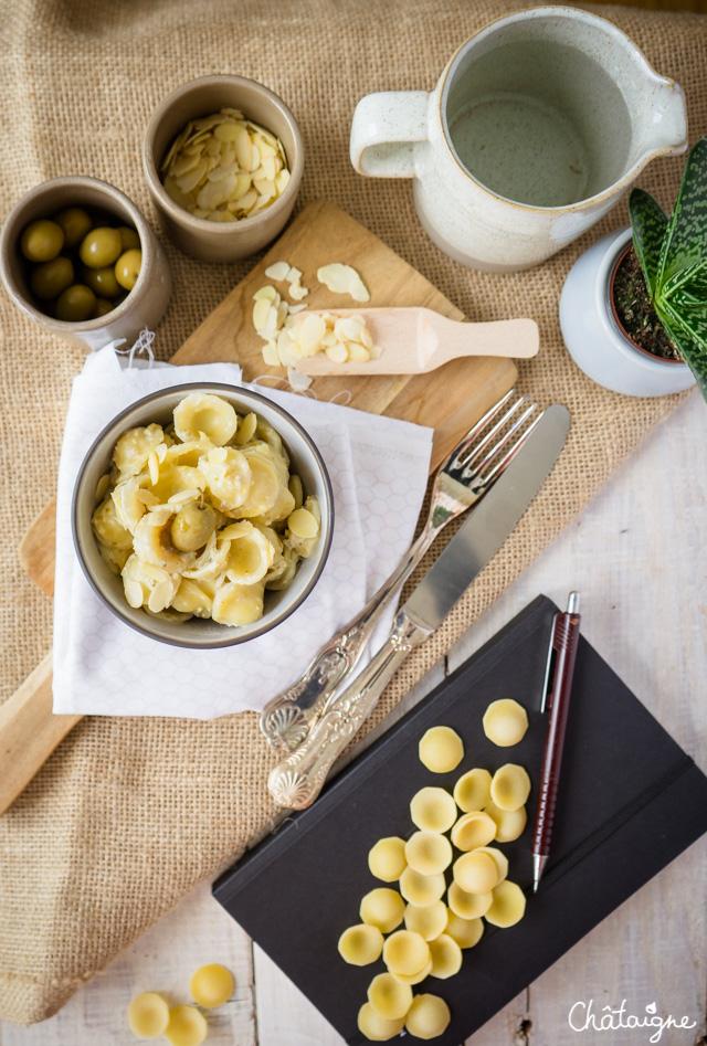 Orecchiettes au pesto d'olives