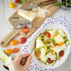 Salade de courgettes au parmesan