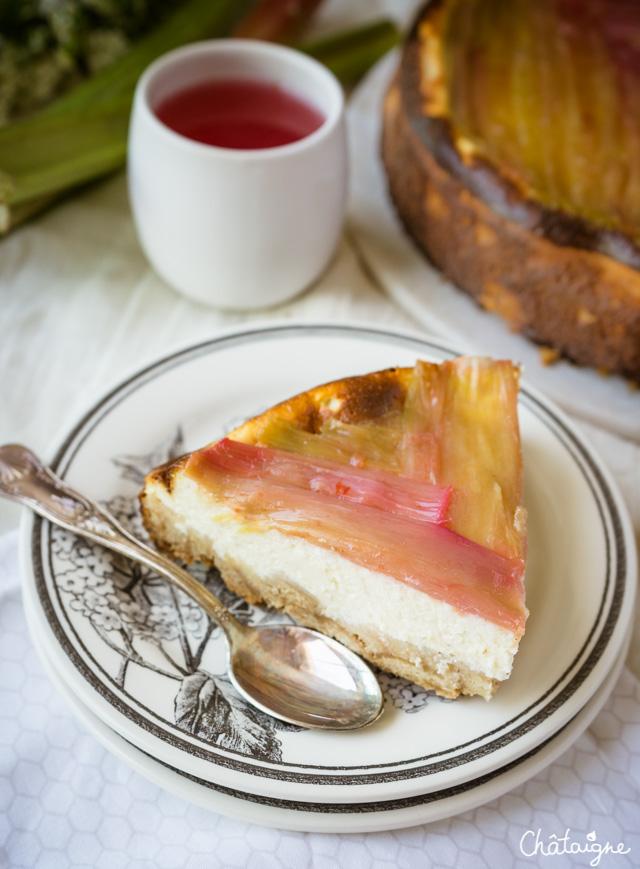 Cheesecake à la rhubarbe