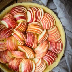 Tarte aux pommes et crème d'amande