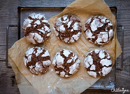 Crinkles cookies au chocolat