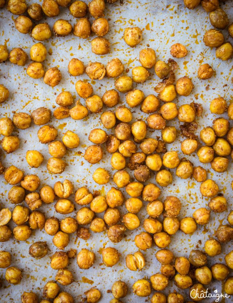 Soupe de butternut aux pois chiches rôtis