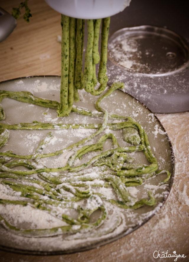 Pâtes fraiches aux épinards