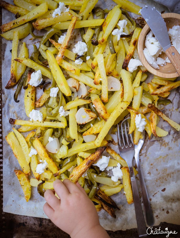 Frites au four à la feta