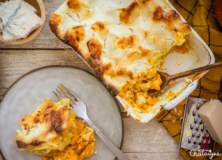 Lasagnes au potimarron et gorgonzola