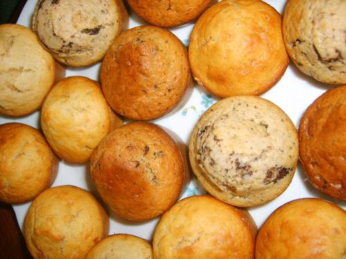 Muffins aux pépites de chocolat et pépites de châtaignes