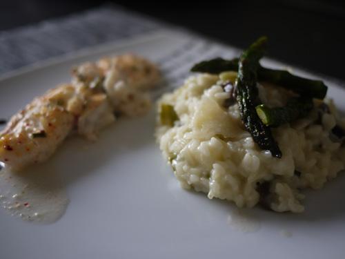 risotto crémeux aux asperges