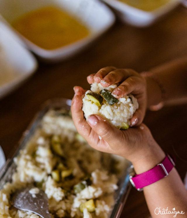 Arancinis, boulettes de riz italiennes