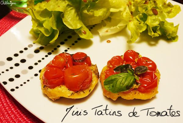 Mini Tatins de tomates cerises