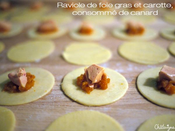 ravioles au foie gras