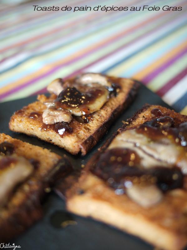 Toasts pain d'épices au foie gras