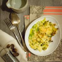 Gratin de poireaux aux ravioles