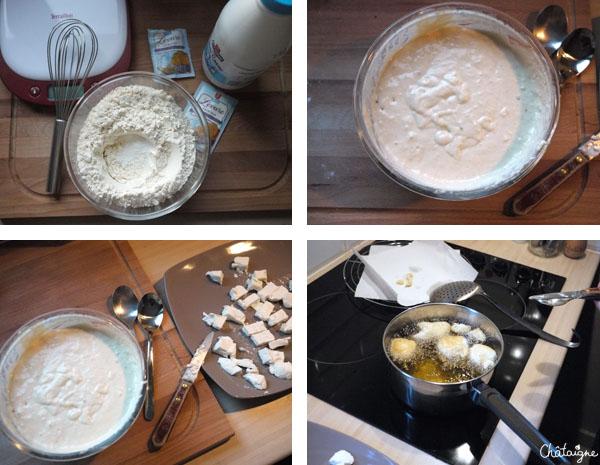 beignets de fromage de chèvre