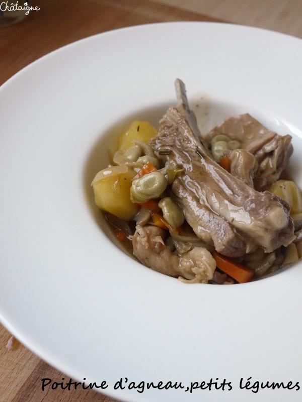 Poitrine d'agneau, petits légumes