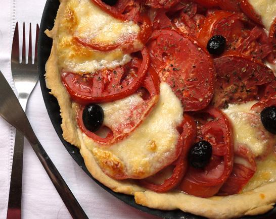 Tarte tomates-mozarella