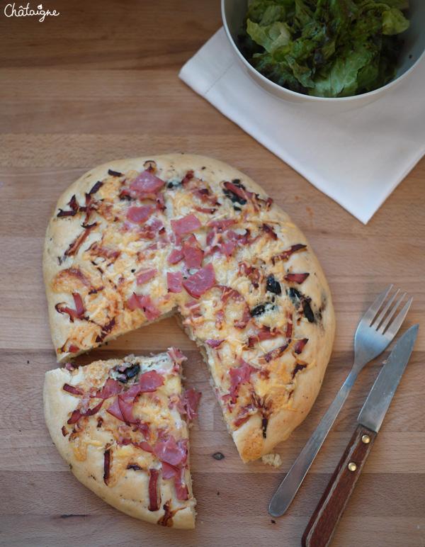 Focaccia au bacon