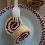 Gâteau roulé à la confiture de framboises