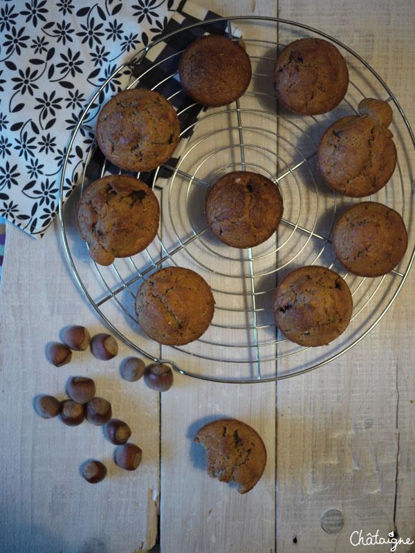 Muffins à la pâte à tartiner ♥
