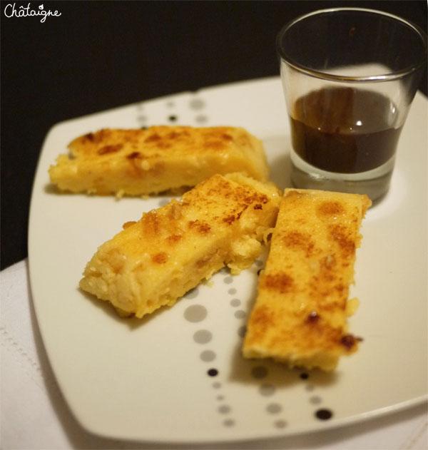 Polenta aux fruits secs et sa sauce chocolat