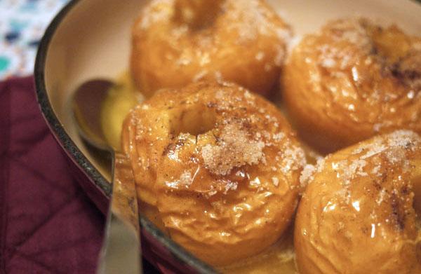 Pommes au four vanillées